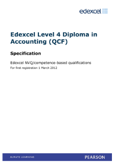 Competence-based qualification in Diploma in Accounting (L4) specification