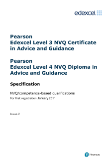 NVQ Diploma in Advice and Guidance specification