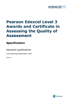 internally assure the quality of assessment