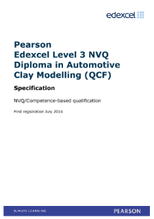 Competence-based qualification in Automotive Clay Modelling (L3) specification