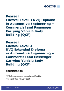 Competence-based qualification in Automotive Engineering - Commercial and Passenger Carrying Vehicle Body Building (L3) specification