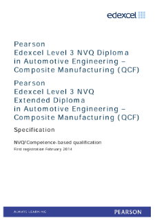 Competence-based qualification in Automotive Engineering - Composite Manufacturing (L3) specification