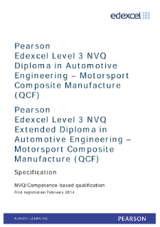 Competence-based qualification in Automotive Engineering - Motorsport Composite Manufacture (L3) specification