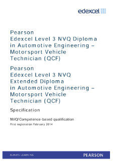 Competence-based qualification in Automotive Engineering - Motorsport Vehicle Technician (L3) specification