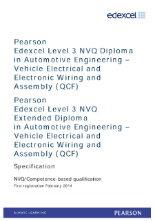 Competence-based qualification in Automotive Engineering - Vehicle Electrical and Electronic Wiring and Assembly (L3) specification