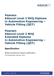 Competence-based qualification in Automotive Engineering - Vehicle Fitting (L3) specification