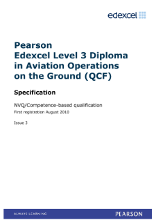 Competence-based qualification in Aviation Operations on the Ground (L3) specification