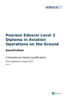Competence-based qualification in Aviation Operations on the Ground (L2) specification
