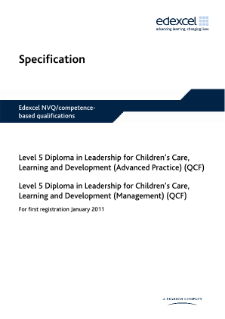 Specification - Edexcel NVQ/competence-based qualifications