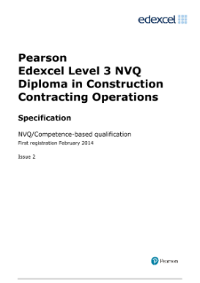 Specification - Level 3,Edexcel NVQ Competence-based qualifications