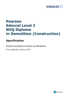 Edexcel Level 2 NVQ Diploma in Demolition (Construction)