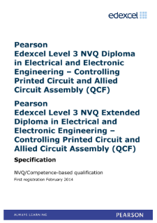 Competence-based qualification in Electrical and Electronic Engineering - Controlling Printed Circuit and Allied Circuit Assembly (L3) specification