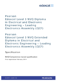 Competence-based qualification in Electrical and Electronic Engineering - Leading Electronics Assembly (L3) specification
