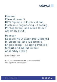 Competence-based qualification in Electrical and Electronic Engineering - Leading Printed Circuit and Allied Circuit Assembly (L3) specification