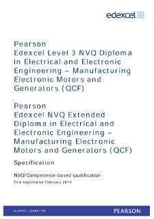 Competence-based qualification in Electrical and Electronic Engineering - Manufacturing Electronic Motors and Generators (L3) specification