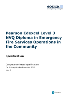 Specification - Level 3,Edexcel NVQ/competence-based qualifications