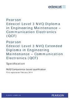 Competence-based qualification in Engineering Maintenance - Communication Electronics (L3) specification