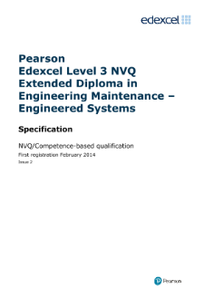Competence-based qualification in Engineering Maintenance - Engineered Systems (L3) specification