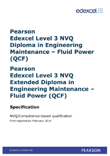 Competence-based qualification in Engineering Maintenance - Fluid Power (L3) specification