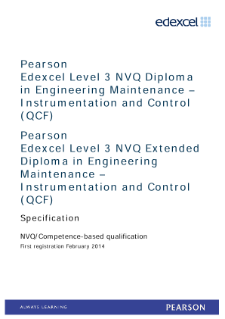 Competence-based qualification in Engineering Maintenance - Instrumentation and Control (L3) specification