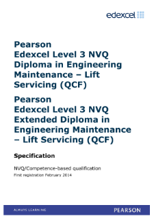 Competence-based qualification in Engineering Maintenance - Lift Servicing (L3) specification
