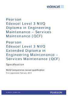 Competence-based qualification in Engineering Maintenance - Services Maintenance (L3) specification