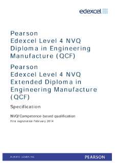 Competence-based qualification in Engineering Manufacture (L4) specification
