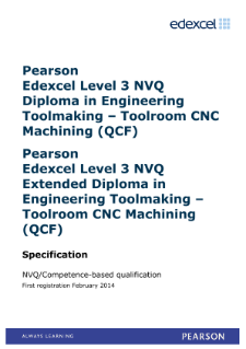 Competence-based qualification in Engineering Toolmaking - Toolroom CNC Machining (L3) specification