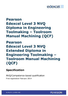 Competence-based qualification in Engineering Toolmaking - Toolroom Manual Machining (L3) specification