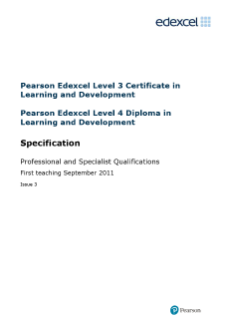 Level 3/4 in Learning and Development