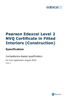 NVQ in Fitted Interiors (Construction) (L2) specification
