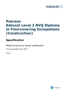 Pearson Edexcel Level 2 NVQ Diploma in Floorcovering Occupations (Construction) (QCF)