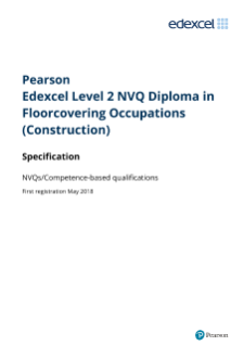Pearson Edexcel Level 2 NVQ Diploma in Floorcovering Occupations (Construction)