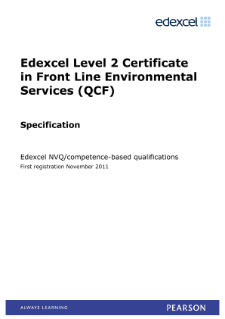 Specification - Level 2
