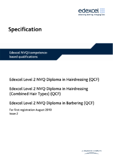 NVQ Diploma in Barbering (L2) specification