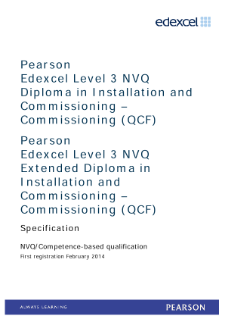 Competence-based qualification in Installation and Commissioning - Commissioning (L3) specification