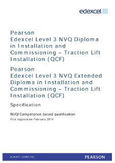 Competence-based qualification in Installation and Commissioning - Traction Lift Installation (L3) specification