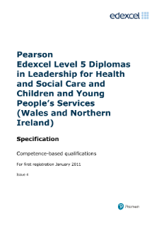 skills for care nvq 5