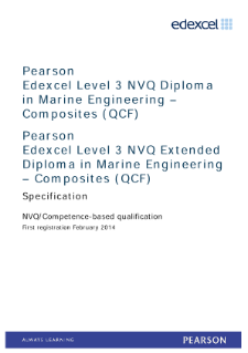 Competence-based qualification in Marine Engineering - Composites (L3) specification