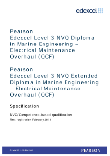 Competence-based qualification in Marine Engineering - Electrical Maintenance Overhaul (L3) specification