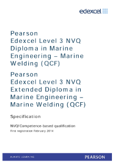 Competence-based qualification in Marine Engineering - Marine Welding (L3) specification