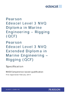 Competence-based qualification in Marine Engineering - Pipework (L3) specification