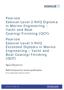 Competence-based qualification in Marine Engineering - Yacht and Boat Coating/Finishing Installation (L3) specification