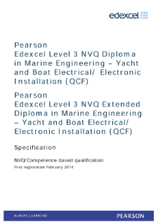 Competence-based qualification in Marine Engineering - Yacht and Boat Electrical/Electronic Installation (L3) specification