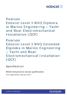 Competence-based qualification in Marine Engineering - Yacht and Boat Electromechnical Installation (L3) specification