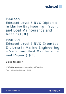 NVQ in Marine Engineering - Yacht and Boat Maintenance and Repair (L3) specification