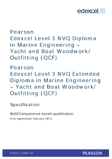 Competence-based qualification in Marine Engineering - Yacht and Boat Woodwork Outfitting (L3) specification