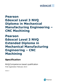 Competence-based qualification in Mechanical Manufacturing Engineering - Machining (L3) specification