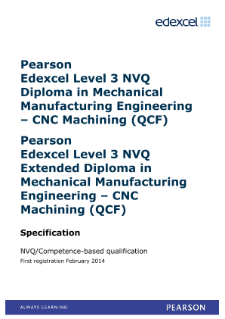 Competence-based qualification in Mechanical Manufacturing Engineering - CNC Machining (L3) specification