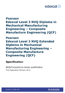 Competence-based qualification in Mechanical Manufacturing Engineering - Composite Manufacture Engineering (L3) specification
